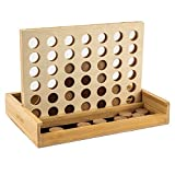 pandoo strategy game Four wins (Connect Four) from bamboo | board game for 2 persons | children...