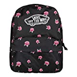 Vans Realm Backpack Mochila Mujer Tipo Casual, 42cm, 22L, Negro (Black Rose)